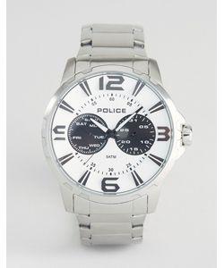 Police | Мужские Часы Из Нержавеющей Стали С Белым Циферблатом Visionary