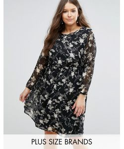 Koko | Платье Миди С Цветочным Принтом Plus