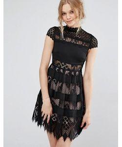 Foxiedox   Кружевное Платье С Высокой Горловиной Bravo Zulu