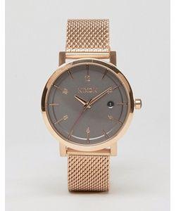 Nixon | Часы С Сетчатым Ремешком Цвета Розового Золота Rollo 38