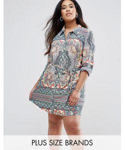 AX Paris | Платье-Рубашка С Принтом Калейдоскоп Plus