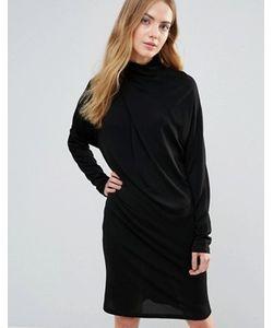 Ganni   Асимметричное Драпированное Платье Doherty