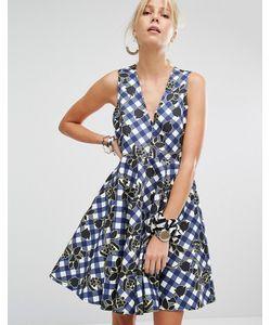 Sportmax Code | Короткое Приталенное Платье В Клеточку Charles