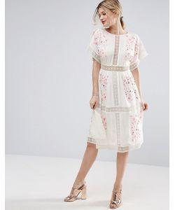 Asos | Платье Миди С Вышивкой Premium