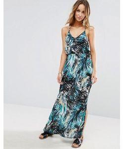 Liquorish | Пляжное Платье На Бретельках С Тропическим Принтом И V-Образным Вырезом