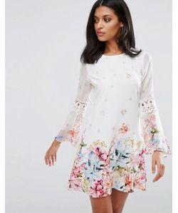 Lipsy | Короткое Приталенное Платье С Цветочным Принтом