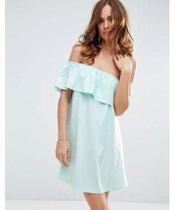 Asos | Платье На Одно Плечо С Оборкой