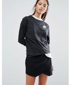 Nike | Выбеленный Свитшот С Круглым Вырезом И Маленьким Логотипом