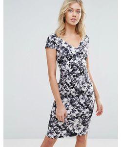 Vesper | Платье Миди С Короткими Рукавами И Цветочным Принтом