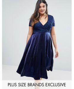 Truly You | Кружевное Платье Миди С Пышной Юбкой