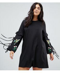 Boohoo Plus | Платье С Вышивкой И Кисточками