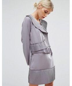 Zacro | Цельнокройное Платье С Асимметричными Складками