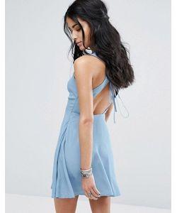 Glamorous | Короткое Приталенное Платье Со Шнуровкой На Спине