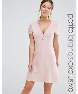 Alter Petite | Короткое Приталенное Платье На Пуговицах С Короткими Рукавами
