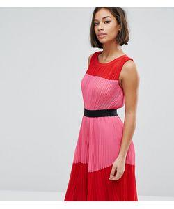 ASOS PETITE | Платье В Стиле Колор Блок Со Складками