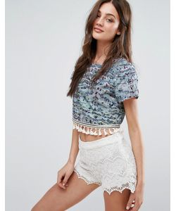 Stevie May | Coral Garden Cropped Top