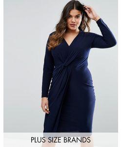Club L Plus | Платье С Узелком Спереди