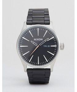 Nixon | Черные Наручные Часы Из Матовой Стали Sentry Ss