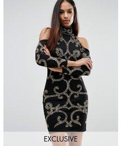 Starlet | Платье Мини С Узором Из Пайеток