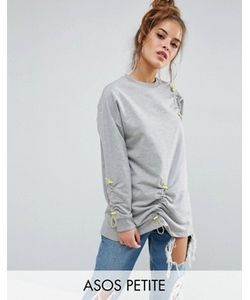 ASOS PETITE | Sweat With Toggle Ruched Detail