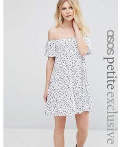 ASOS PETITE | Платье С Открытыми Плечами И Мелким Цветочным Принтом