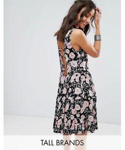 Glamorous Tall   Свободное Платье С Цветочным Принтом И Завязкой На Спине