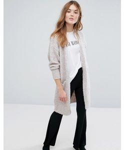 New Look | Удлиненный Кардиган С Отделкой Букле