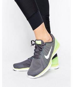 Nike | Серые Кроссовки С Яркой Желтой Вставкой Tr 6