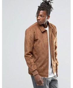 Asos | Светло-Коричневая Куртка Из Искусственной Замши