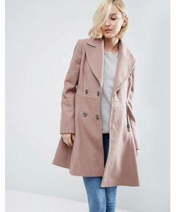 Asos | Приталенное Пальто Из Шерстяной Смеси В Байкерском Стиле