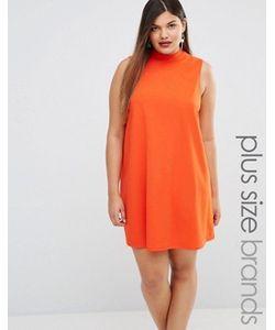 AX Paris | Платье С Присборенной Юбкой И Высоким Воротом Plus