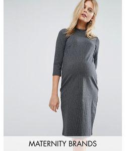 Mama Licious | Платье В Полоску С Высокой Горловиной Mamalicious
