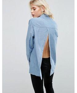 Asos | Джинсовая Рубашка С Открытой Спинкой