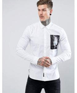 Religion | Строгая Приталенная Рубашка С Нашивкой