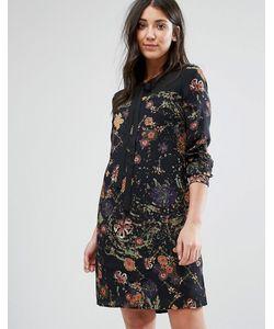 Lavand. | Цельнокройное Платье С Принтом И Завязкой У Горловины Lavand