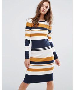Selected   Облегающее Платье В Полоску Femme