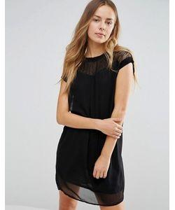 Vero Moda | Удлиненное Платье С Кружевной Кокеткой