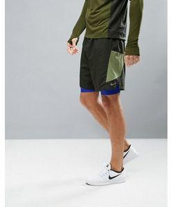 Nike Running | Зеленые Шорты 2 В 1 7 Pursuit 683288-355