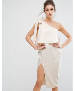 MISSGUIDED | Платье Миди На Одно Плечо С Бантом