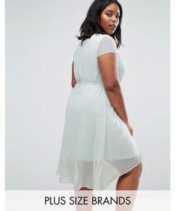 Koko | Короткое Приталенное Платье С Удлиненной Задней Частью Plus