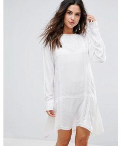 Anmol | Удлиненное Пляжное Платье С Вышивкой