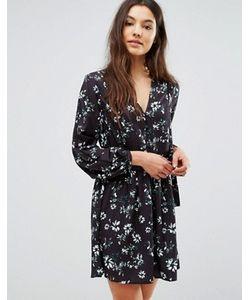 Greylin | Платье С Цветочным Принтом И Завязкой Сбоку Benson