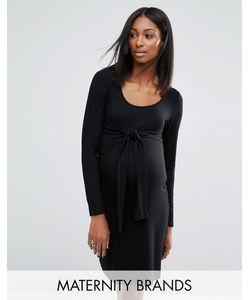 Noppies Maternity | Трикотажное Платье С Узлом Спереди Для Беременных