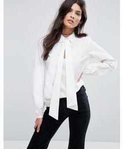 Vila | Рубашка С Запахом И Бантом