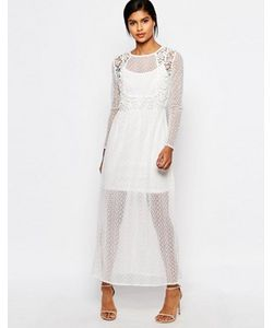 Vero Moda   Платье Макси Из Полупрозрачного Кружева