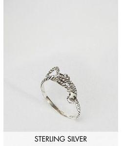Asos   Серебряное Кольцо С Дизайном Змеи
