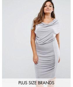 Missguided Plus | Платье Миди Со Свободным Воротом