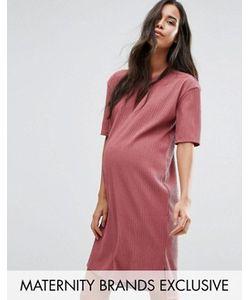 Missguided Maternity | Фактурное Платьефутболка Для Беременных В Стиле Oversize