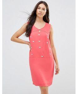 Lavand. | Цельнокройное Платье С Декоративной Отделкой Lavand