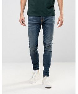 Nudie Jeans Co | Супероблегающие Джинсы Серовато-Синего Цвета Nudie Pipe Led